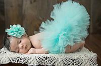 Юбка пачка для новорожденной девочки бирюза