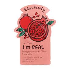 """Тканевая маска с экстрактом граната Tony Moly """"I'm Real"""" Pomegranate Mask Sheet"""