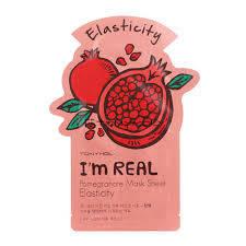 """Тканевая маска с экстрактом граната Tony Moly """"I'm Real"""" Pomegranate Mask Sheet, фото 2"""