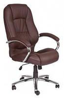 Кожаное кресло Надир HB кожзам коричневый