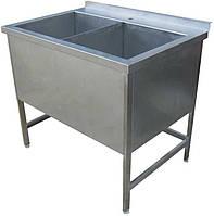 Ванна моечная двухсекционная 1000х500