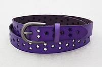 Ремень женский фиолетовый T.I.A. кожа, фото 1