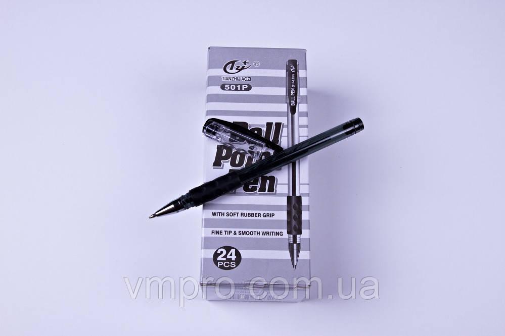 Ручки шариковые Tianzhijiaozi 501P,черные,1.0 mm,24 шт/упаковка