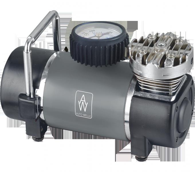 Компрессор атомобильный AUTO WELLE AW01-12 металл 12V 12A 30 l/min 100PSI