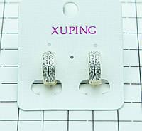 432. Ювелирная бижутерия Xuping серьги с позолотой. Серьги XP в Одессе 7км