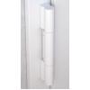 Петля дверная Dr.Hahn KT-RN ПВХ 140 кг - угол наплава профиля 0° белая RAL 9016