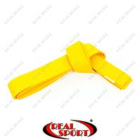 Пояс для кимоно Champion, желтый UR CO-4073 (хлопок, полиэстер)