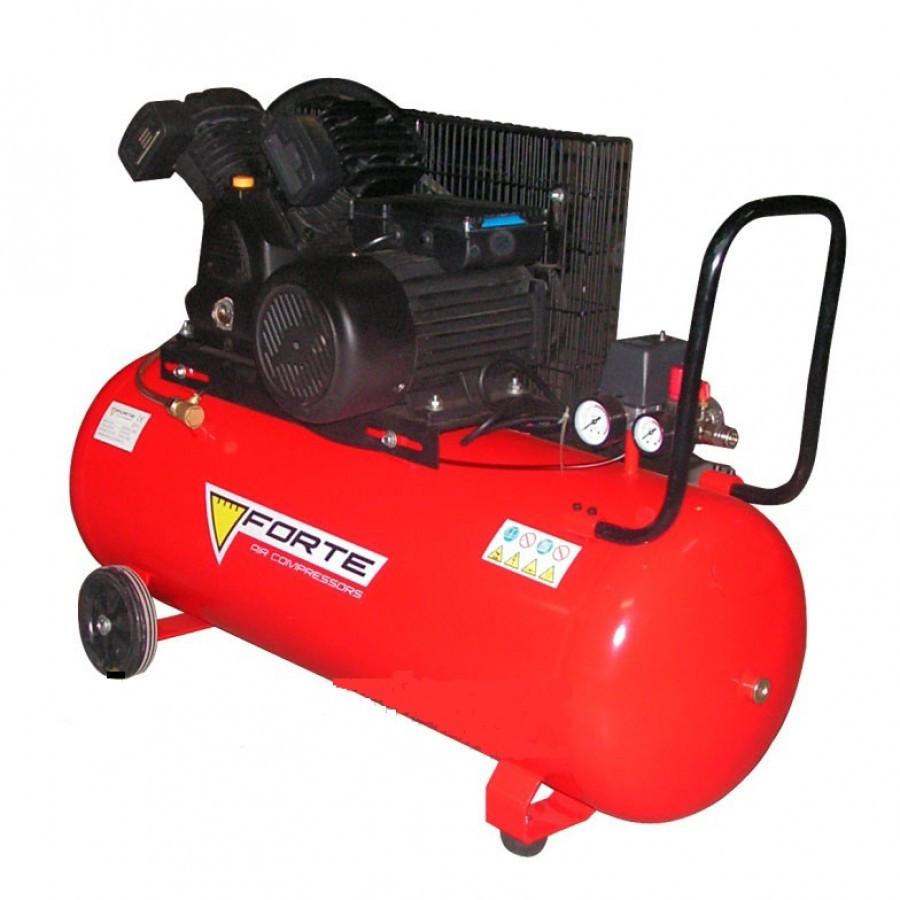 ⭐ Компресор V-0.4/100 - 10 атм. 2,2 кВт, вхід: 420 л/хв, ресивер 100 л. FORTE