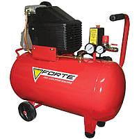 ⭐ Компрессор FL-50 - 8 атм. 1,5 кВт, вход: 203 л/мин, ресивер 50 л. FORTE