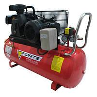 Компрессор W-0.5/100 - 10 атм. 3 кВт, 380 В, вход: 520 л/мин, ресивер 100 л. FORTE