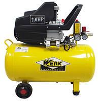 Компрессор BM-2T50 - 8 атм. 1,5 кВт, вход: 200 л/мин, ресивер 50 л. WERK
