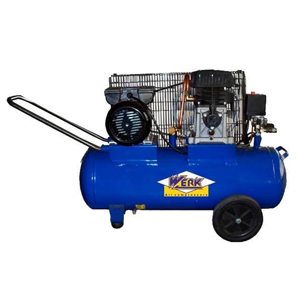⭐ Компресор ZBM60-50 WERK - 10 атм. 2,0 кВт, вхід: 300 л/хв, ресивер 50 л. WERK
