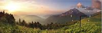 "Картина-часы (30х90 см) ""Вид на горы"""