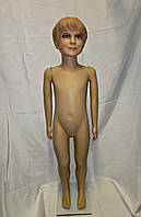 Манекен детский мальчик реалистичный в полный рост 110 см