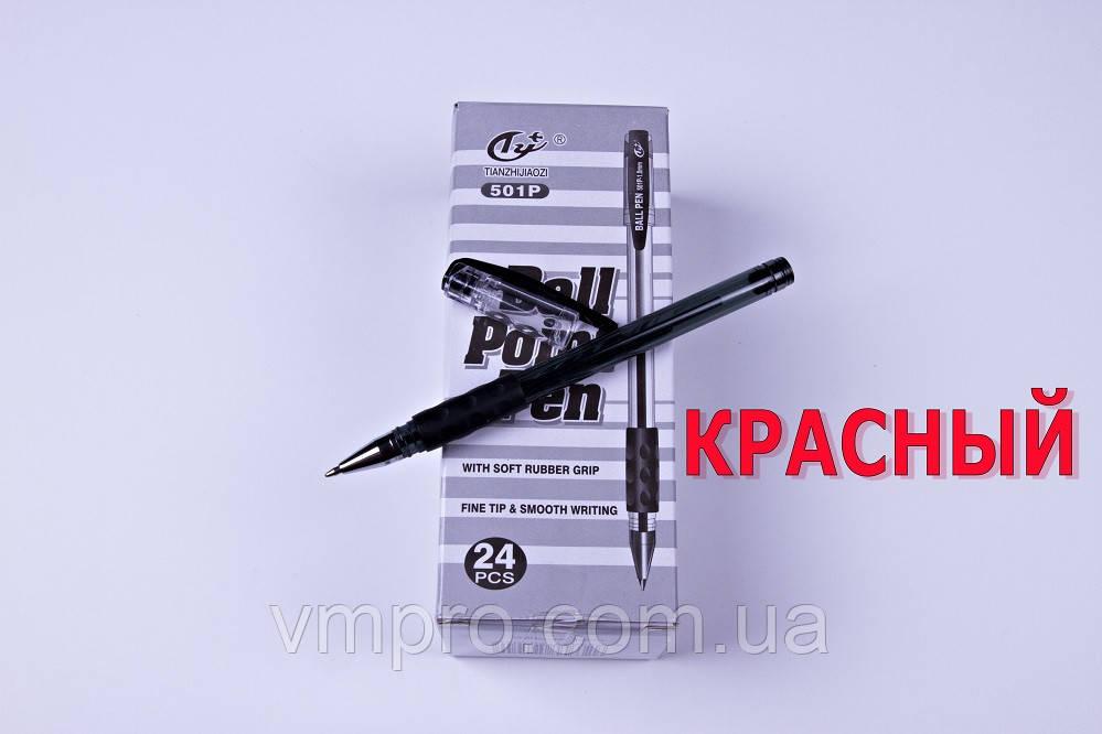 Ручки шариковые Tianzhijiaozi 501P,красная,1.0 mm,24 шт/упаковка