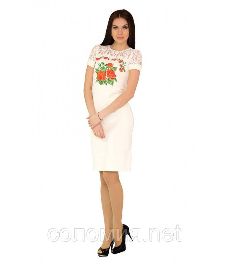 Плаття вишите жіноче Жовте 40-46 рр