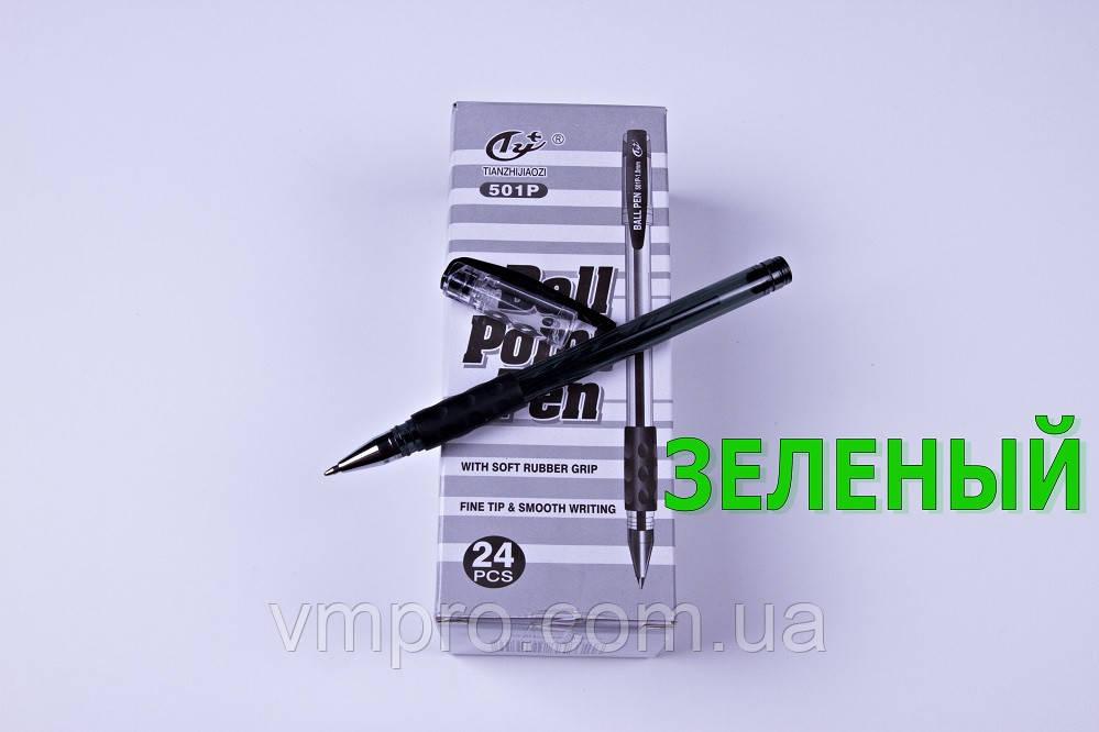 Ручки шариковые Tianzhijiaozi 501P,зеленые,1.0 mm,24 шт/упаковка, фото 1