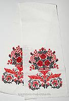 Свадебный рушник вышитый крестиком на льне Ваза