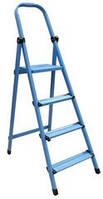 Стремянка металлическая - 404 (4 ст., синяя) (WORK'S)
