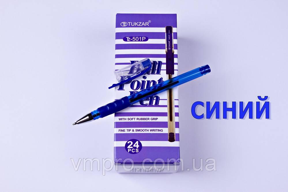Ручки кулькові TUKZAR TZ-501P,синні,1.0 mm,24 шт/упаковка