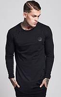 Свитшот philipp Plein (филипп плейн)ЛОНГ, мужская кофта с дырками, свитер, с дырками