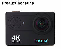 Экшн камера EKEN H9 V2.0 ULTRA HD 4K WI-FI NEW 2017 - Black