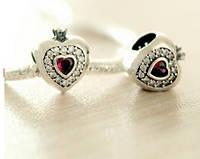 Шарм «Сердце с короной» серебро 925