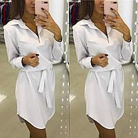 Платье-рубашка под поясок 9650
