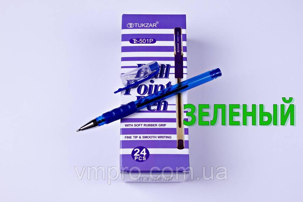Ручки кулькові TUKZAR TZ-501P,зелений,1.0 mm,24 шт/упаковка
