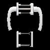 Балконный гарнитур белый Hoppe New York F9016 0810/961N U10/0810