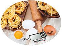Весы (для кухни) - kes-1rd (с рисунком, круглые, макс-5кг) GRUNHELM