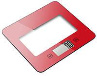 Весы (для кухни) - kes-1s (красные, квадрат., макс-5кг) GRUNHELM