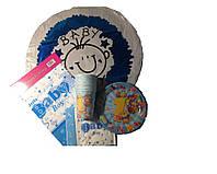 """Набор для детского дня рождения """"1 годик мальчик"""". Тарелки, стаканчики, скатерть, салфетки, шарик"""