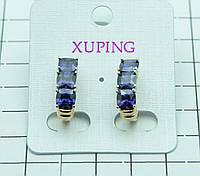 439. Серьги XP с кристаллами. Серьги Xuping оптом.