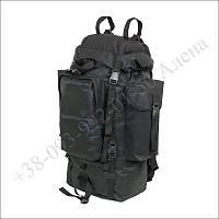 Туристический рюкзак 75 литров черный для туризма, армии, рыбалки нейлон