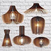 Изготовление подвесных светильников из фанеры, фото 1