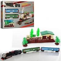 Детская железная дорога 22833 163-94см, вагоны 3шт, станция, звук, свет, на бат-ке, в кор-ке, 65-36,5-6см
