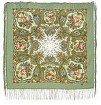Сольвейг 1549-3, павлопосадский вовняну хустку з шовковою бахромою, фото 3