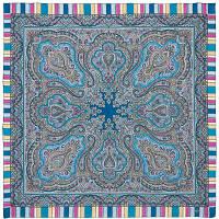 Татьяна 1564-3, павлопосадский платок шерстяной  с оверлоком
