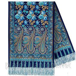 Розквітаючій камені 1442-65, павлопосадский шарф-палантин вовняної з шовковою бахромою