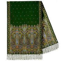 Русалка 1156-59, павлопосадский шарф-палантин шерстяной с шелковой бахромой, фото 1
