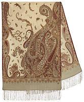 Тысяча и одна ночь 1558-51, павлопосадский шарф-палантин шерстяной с шелковой бахромой