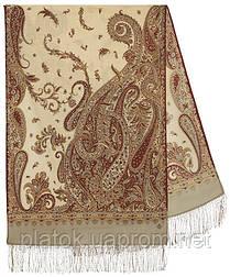 Тисяча і одна ніч 1558-51, павлопосадский шарф-палантин вовняної з шовковою бахромою
