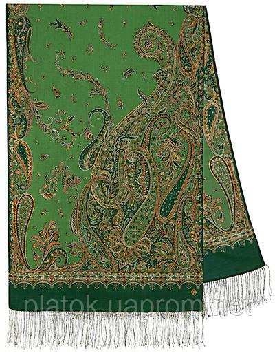 Тысяча и одна ночь 1558-59, павлопосадский шарф-палантин шерстяной с шелковой бахромой