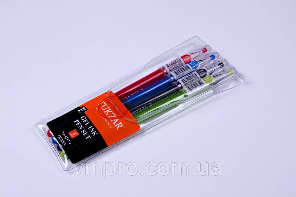 Набір гелевих ручок Sultani-Tukzar TZ-5237-4,0.5 mm,різні кольори 4 шт.