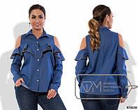 Красивая женская рубашка 48+ , Фабрика Моды