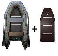 Лодка килевая Kolibri (Колибри) цвет камуфляж Профи (с пайолом фанерным) KDB КМ-330D /03-877