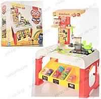 Пластилин МК 0677, 8 цветов, баночки с крышками, кухня, 65*47*28 см, посуда, звук, свет, батарейки, в коробке