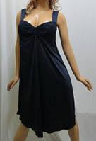 Ночная рубашка женская с красивым лифом 48-56р-р. тёмно-синий