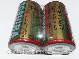 Батарейка солевая (упаковка 20шт.)Tochiba D2 R20P UM1 D 1.5V